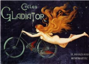 Vintage French bicycle poster - Cycles Gladiator